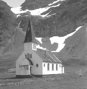 Grytviken Church 1960s. Photo John Dye