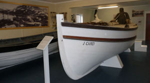 James Caird in Carr Maritime Gallery South Georgia Museum. Photo courtesy of the museum.